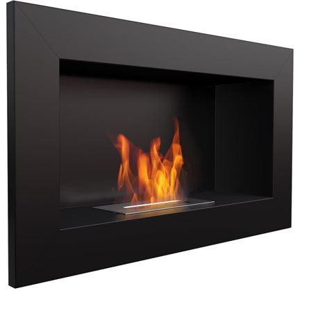 Biocamino 64x40 cm nero con bruciatore da 0,5 litri senza vetro
