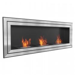 Biocamino extralarge 180x65 cm - 3 mega bruciatori - basic juliett 1800