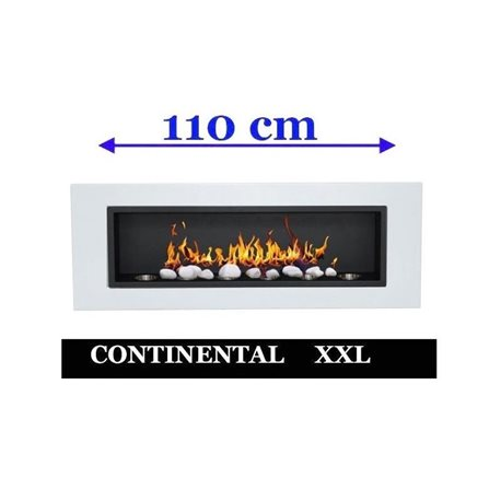 Biocamino 110x40X15 cm Bianco mod FD96 continental