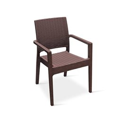 Sedia per esterno - mod udine Marrone - professionale per negozi