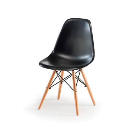 Sedia moderna stile design italiano mod fedel nera for Sedia design nera