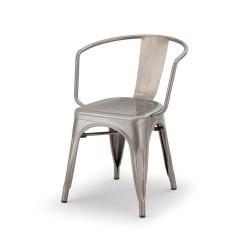 Sedia Poltrona impilabile con struttura in metallo galvanizzato e verniciato - Daido