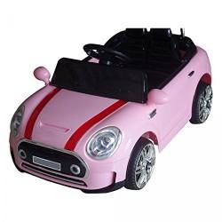 Auto Macchina Elettrica Mini Rally Coupè Rosa 12V Per Bambini