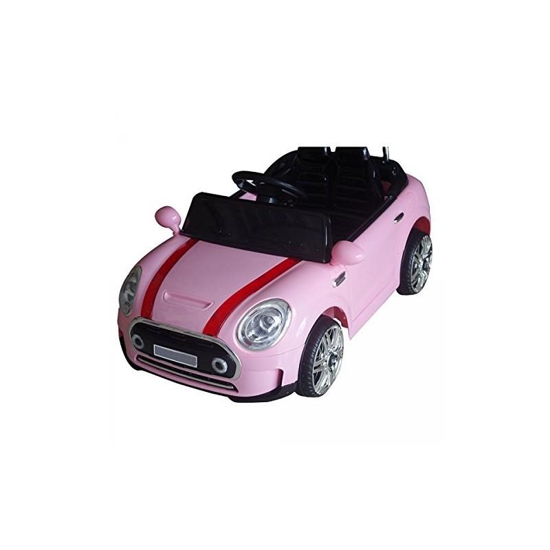 Auto Macchina Elettrica Mini Rally Coupè Rosa 12v Per Bambini Guida