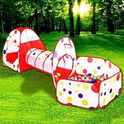 Giochi per bambini tenda Tunnel tenda Cubby-Tube canadese giochi 3 pezzi Pop-up Interni Esterni Giochi da casa gioc