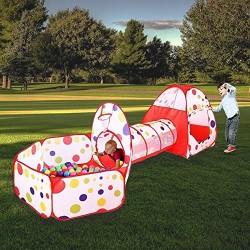 MAIKEHIGH Indoor / Outdoor Tunnel gioco e Play Tent Cubby-Tube-tenda canadese 3 in 1 parco giochi per bambini capretti del bambi