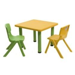 Tavolino Strong Giallo & Verde 62x62x52 00210002