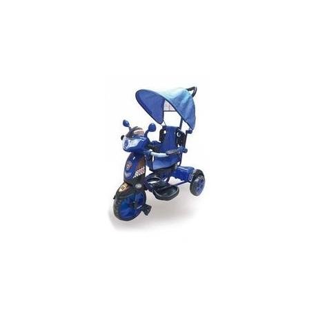 Moto Triciclo New Rider a Spinta con Pedali per Bambini Blu