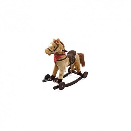 Cavallo A Dondolo Con Ruote.Dondolo Cavallo Berlin Con Ruote In Legno E Peluche Cavalluccio Gio