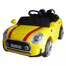 Auto Macchina Elettrica Mini Rally Coupè Giallo 12V Per Bambini