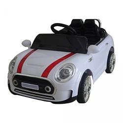 Auto Macchina Elettrica Mini Rally Coupè Bianca 12V Per Bambini