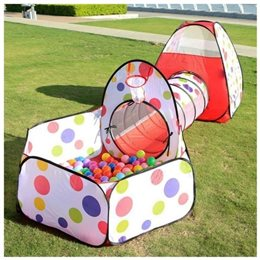 Tenda per Gioco MOX 3 in 1 con Tunnel e Vasca con 25 Palline Colorate