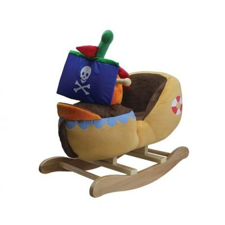 Dondolino Nave pirata in stoffa per bambini