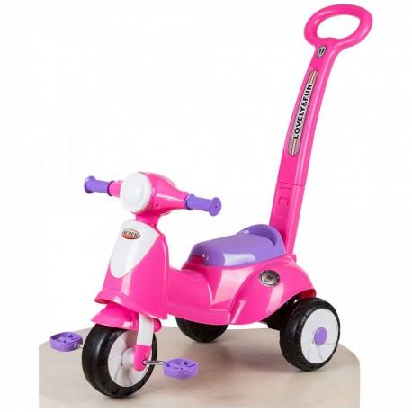Moto Triciclo Summer a Spinta con Pedali per Bambini color Rosa