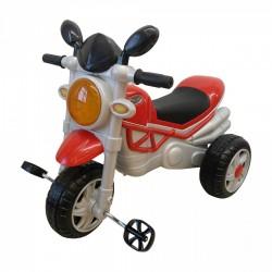 Moto Triciclo Monster con Pedali per Bambini Rosso Dugez