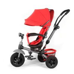 Triciclo Baby Swing Rosso con Sedile Girevole e Reclinabile per Bambini