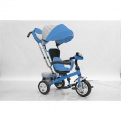 Triciclo Baby Swing Blu con Sedile Girevole e Reclinabile per Bambini