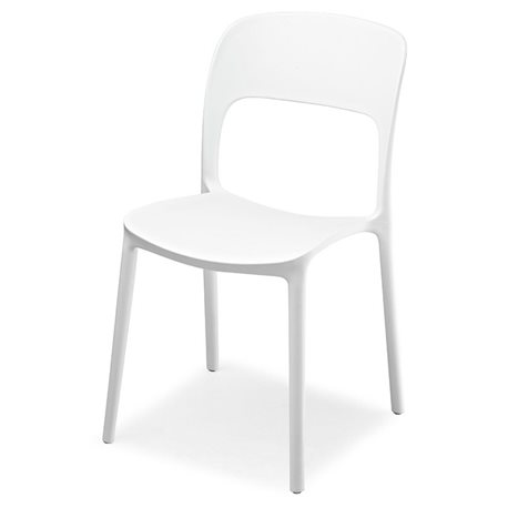Sedie stile moderno sedia moderna mod luy bianca guida e for Sedia bianca moderna