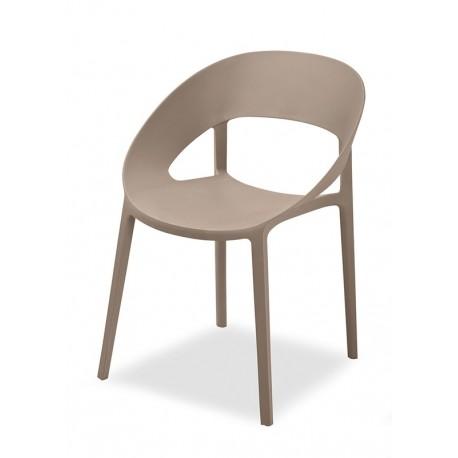 Sedia design moderno lussuosa mod space colore marrone for Sedia design marrone