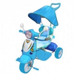 Triciclo Hornet Azzurro Con Parasole Dugez per bambini