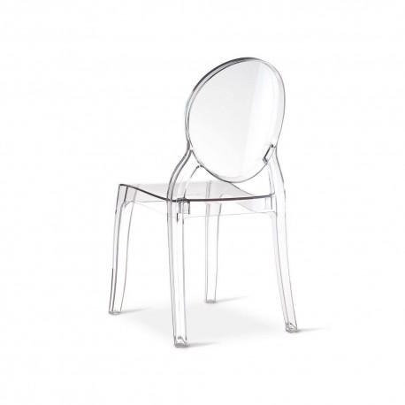Sedia design moderno : Luna Transparente