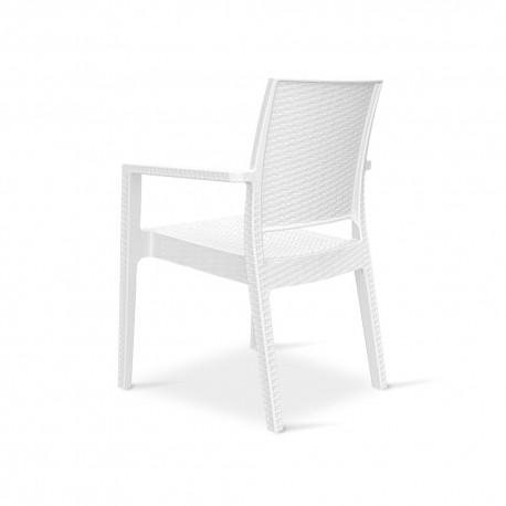 Sedia per esterno - mod udine Bianca - professionale per negozi