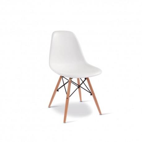 Sedia moderna stile design italiano mod fede bianca for Sedia bianca moderna