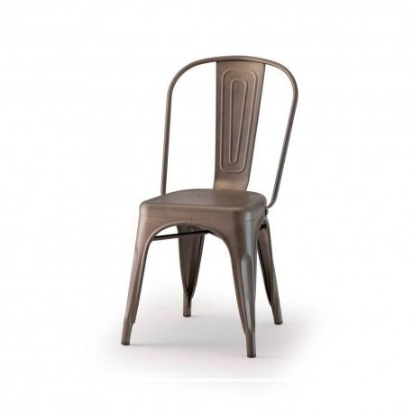 Sedia impilabile con struttura in metallo galvanizzato - Metall